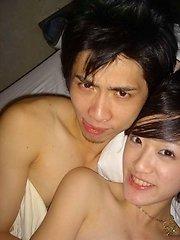 Cute Asian girls and their boyfriends