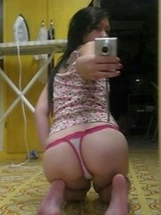 Asian girl with really hot body taking selfpics