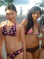 A collection Asian beach and bikini babe photos