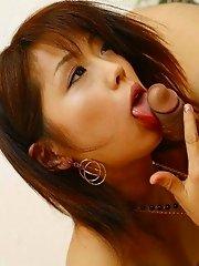 Bunko Kanazawa sex in her lingerie