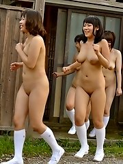 Japanese teen playing in village (part3)