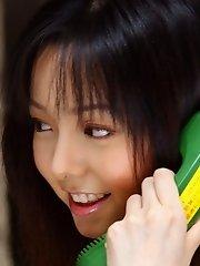 Yui Hasumi Asian teen model in her dress