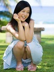 sexy and cute Japanese av idol Iori Kogawa shows her cute naked body