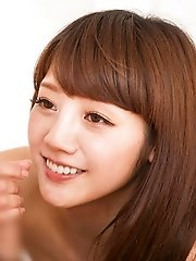 Cute and sexy Japanese av idol Rei Mizuna shows how to give the perfect blowjob - Rei Mizuna