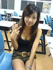 A collection of lovely Asian babes posing