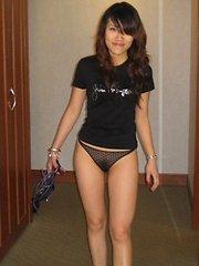 A sexy Asian named Mia posing for photos