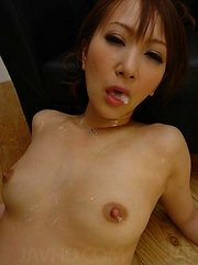 Anna Mizukawa has a ton of toys stuffed into her sweet Asian puss