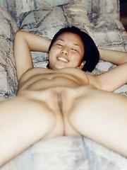 Naughty Asian chicks posing sleazy on cam