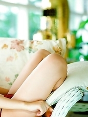 Risa Kudo loves hot days when she can show her hot curves