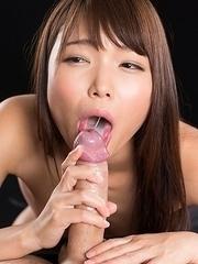 Shino Aoi Sloppy Seconds Handjob