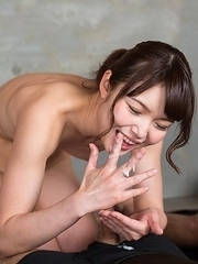 Shino Aoi Uses Cum to Stroke A Bunch of Dicks
