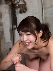 Shino Aoi Uses Cum to Stroke A Bunch of Dicks